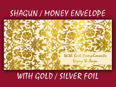 Personalised Golden / Silver Foil Printed Envelopes in delhi